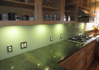 solid color glass backsplash - 7